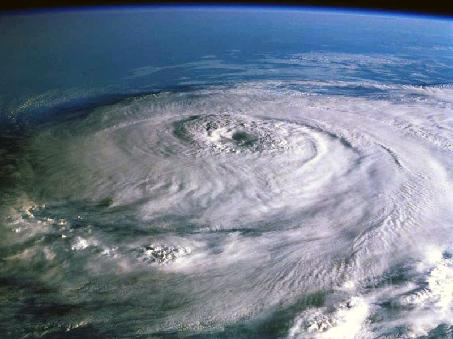 View of Hurricane from Low Earth Orbit