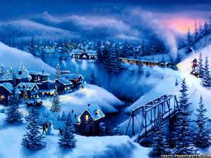 Evening Winter Scene