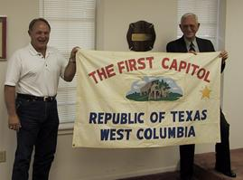 First Capitol Flag, by West Columbia Girl Scouts