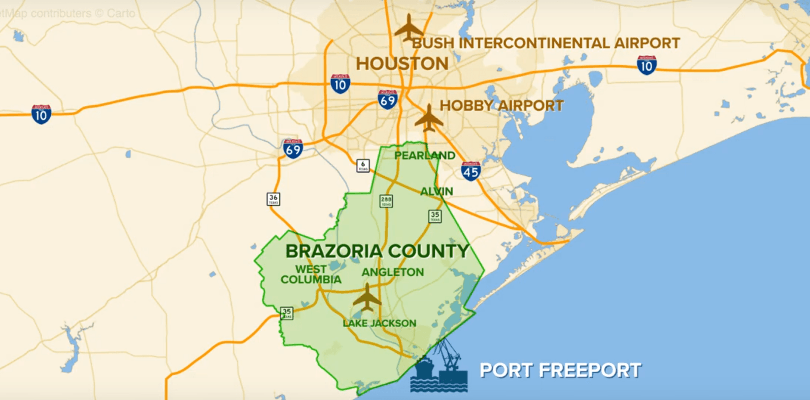 Brazoria County Overview Video Opens in new window